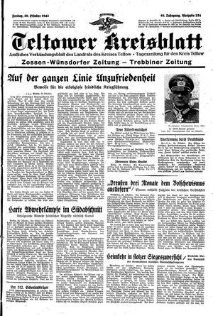 Teltower Kreisblatt vom 29.10.1943