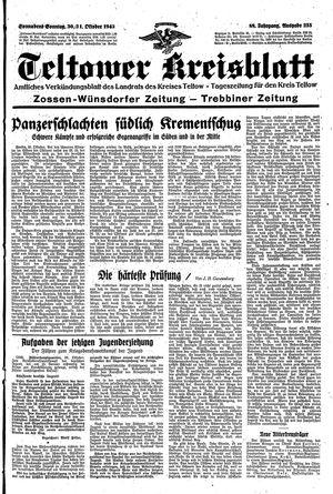 Teltower Kreisblatt vom 30.10.1943