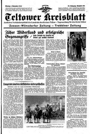 Teltower Kreisblatt vom 01.11.1943