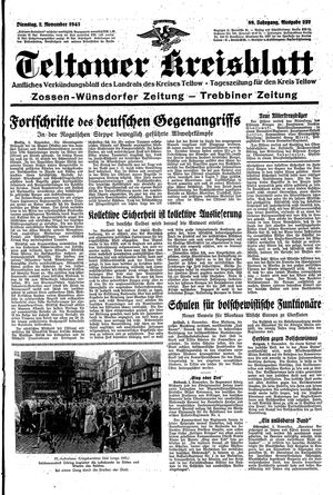 Teltower Kreisblatt vom 02.11.1943