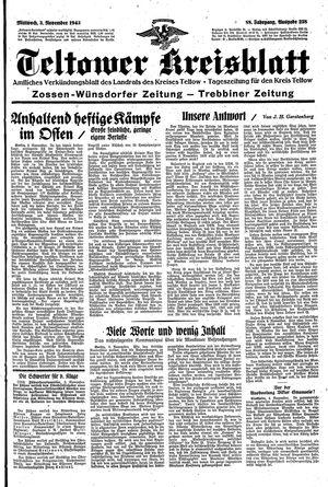 Teltower Kreisblatt vom 03.11.1943