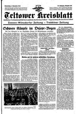 Teltower Kreisblatt vom 04.11.1943