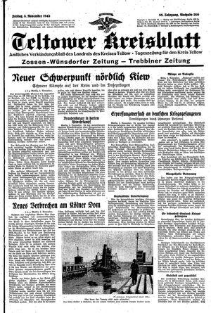 Teltower Kreisblatt vom 05.11.1943