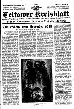Teltower Kreisblatt vom 06.11.1943