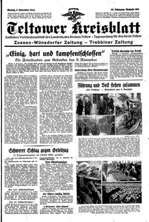 Teltower Kreisblatt vom 08.11.1943