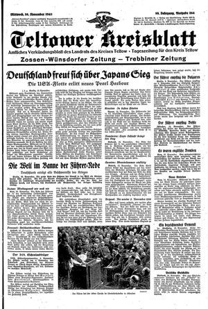 Teltower Kreisblatt vom 10.11.1943