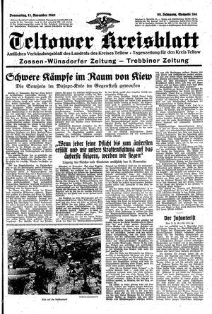 Teltower Kreisblatt vom 11.11.1943