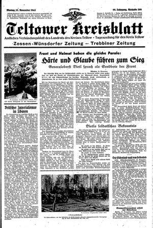 Teltower Kreisblatt vom 15.11.1943
