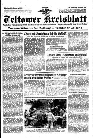 Teltower Kreisblatt vom 16.11.1943