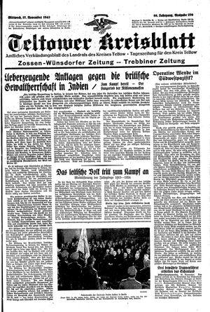 Teltower Kreisblatt vom 17.11.1943