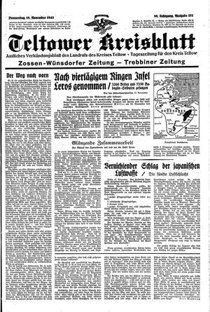 Teltower Kreisblatt vom 18.11.1943