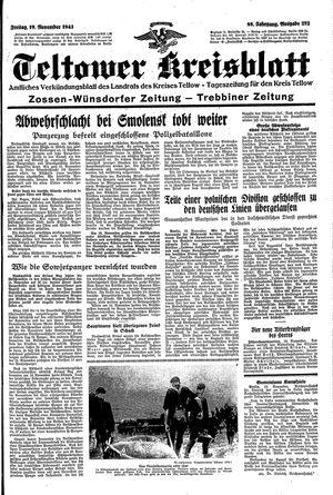Teltower Kreisblatt vom 19.11.1943