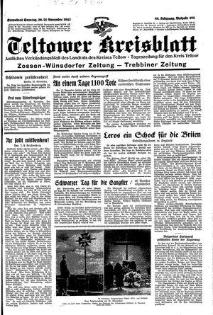 Teltower Kreisblatt vom 20.11.1943