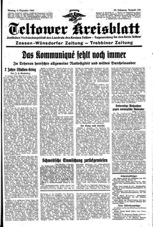 Teltower Kreisblatt vom 06.12.1943