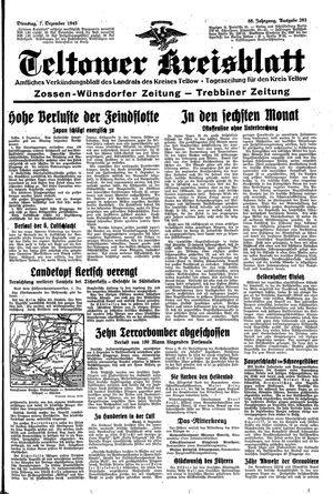 Teltower Kreisblatt vom 07.12.1943
