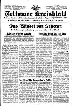 Teltower Kreisblatt vom 08.12.1943