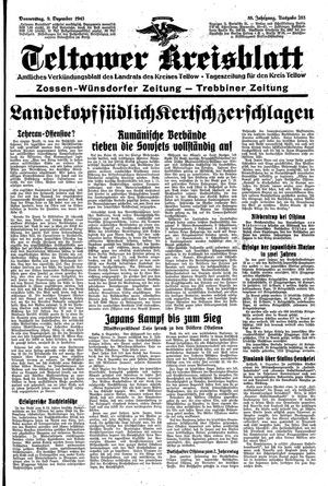 Teltower Kreisblatt vom 09.12.1943