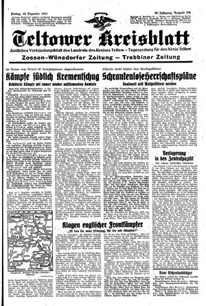 Teltower Kreisblatt vom 10.12.1943