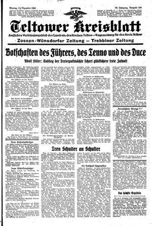 Teltower Kreisblatt vom 13.12.1943