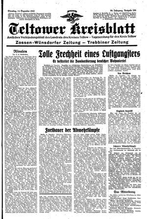 Teltower Kreisblatt vom 14.12.1943