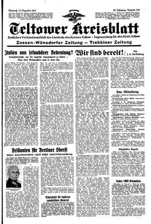Teltower Kreisblatt vom 15.12.1943