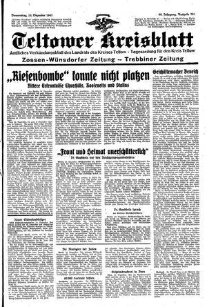 Teltower Kreisblatt vom 16.12.1943