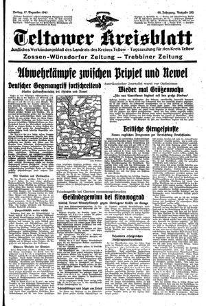 Teltower Kreisblatt vom 17.12.1943