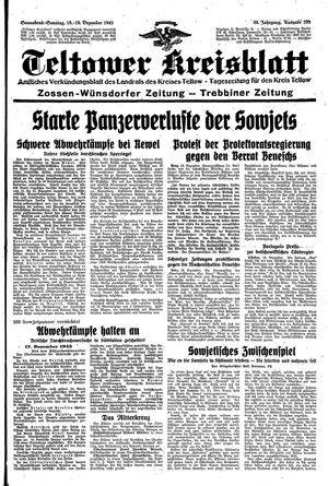 Teltower Kreisblatt vom 18.12.1943