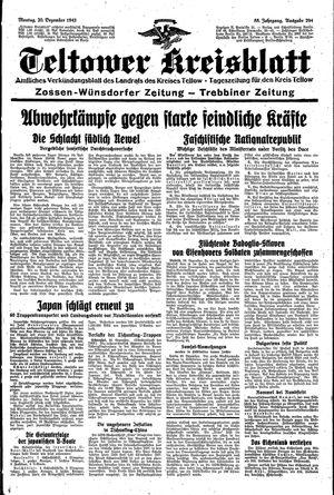 Teltower Kreisblatt vom 20.12.1943
