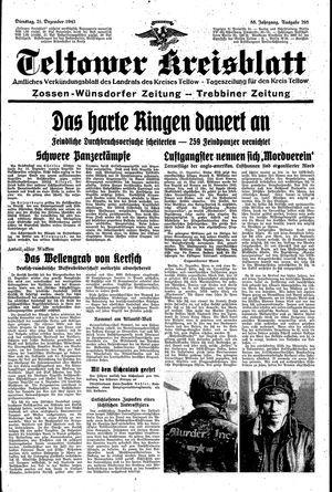 Teltower Kreisblatt vom 21.12.1943