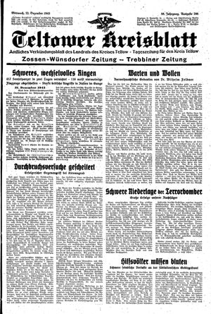 Teltower Kreisblatt vom 22.12.1943
