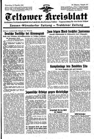 Teltower Kreisblatt vom 23.12.1943