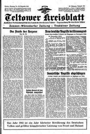Teltower Kreisblatt vom 24.12.1943