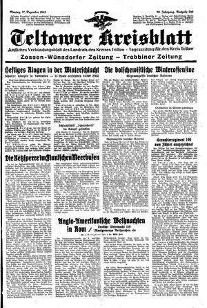 Teltower Kreisblatt vom 27.12.1943