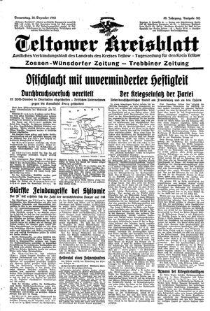 Teltower Kreisblatt vom 30.12.1943