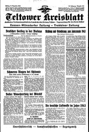 Teltower Kreisblatt vom 31.12.1943