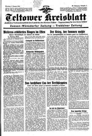 Teltower Kreisblatt on Jan 4, 1944