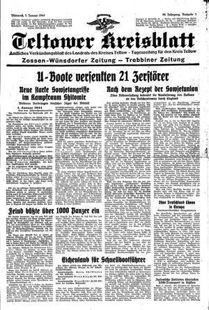 Teltower Kreisblatt vom 05.01.1944