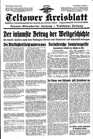 Teltower Kreisblatt vom 06.01.1944