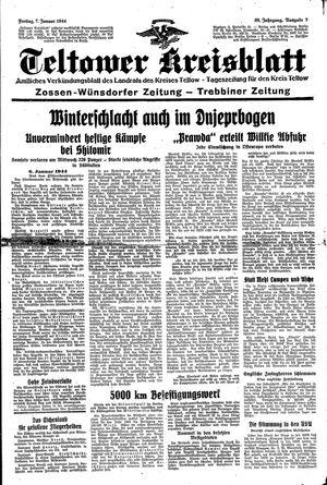 Teltower Kreisblatt vom 07.01.1944