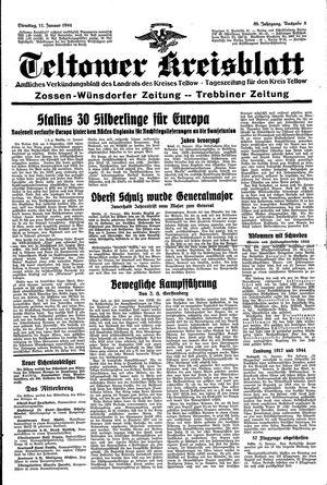 Teltower Kreisblatt vom 11.01.1944