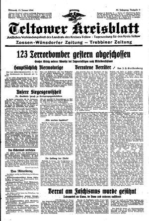 Teltower Kreisblatt vom 12.01.1944