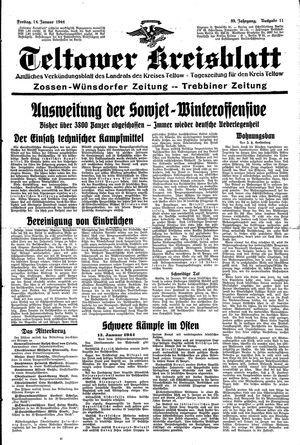 Teltower Kreisblatt vom 14.01.1944