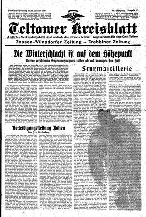 Teltower Kreisblatt on Jan 15, 1944