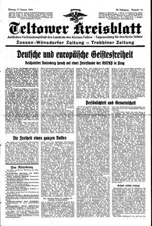 Teltower Kreisblatt vom 17.01.1944