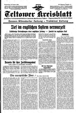 Teltower Kreisblatt vom 20.01.1944