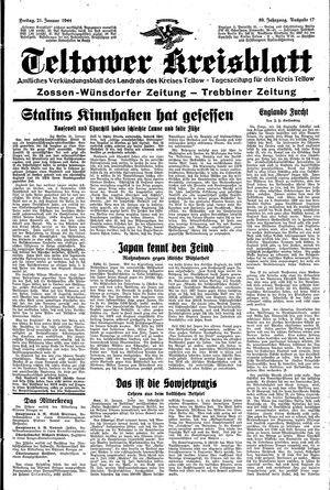 Teltower Kreisblatt vom 21.01.1944
