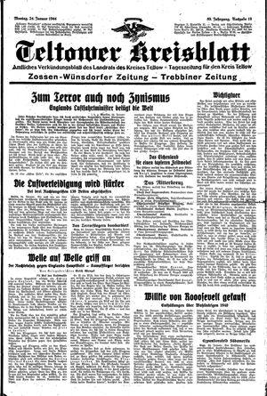 Teltower Kreisblatt vom 24.01.1944