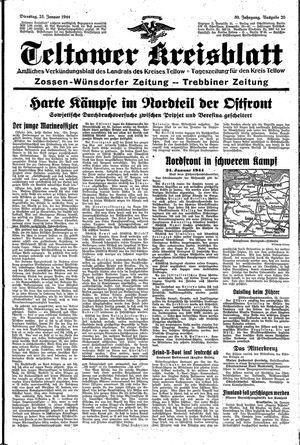 Teltower Kreisblatt on Jan 25, 1944