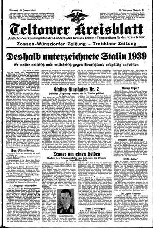 Teltower Kreisblatt vom 26.01.1944